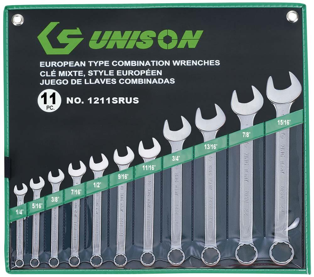 UNISON 11PC R&OE WRENCH SET 1/4-15/16