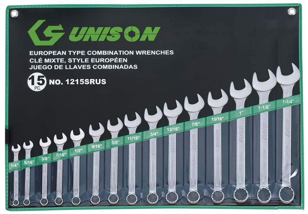 UNISON 15PC R&OE WRENCH SET 1/4-1.1/4