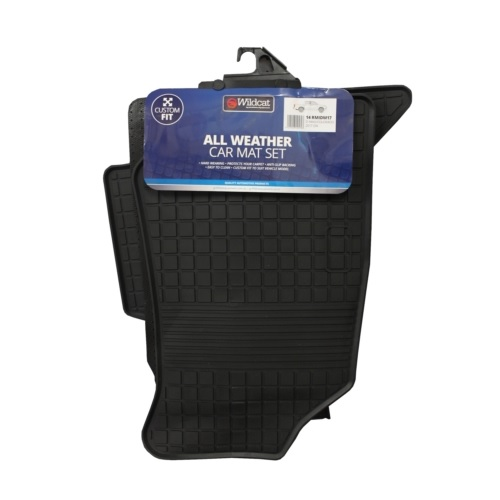 ALL WEATHER CAR MAT SET - RUBBER - T/S D-MAX/COLORADO 2017 ONWARDS