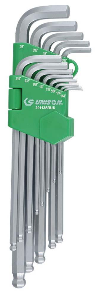 UNISON 13PC LNG B/PNT HEX KEY ST 3/64-3/8