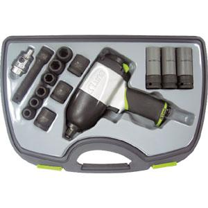 LUNA AIR 15PC 1 2IN DR. IMPACT WRENCH SET T HAMMER