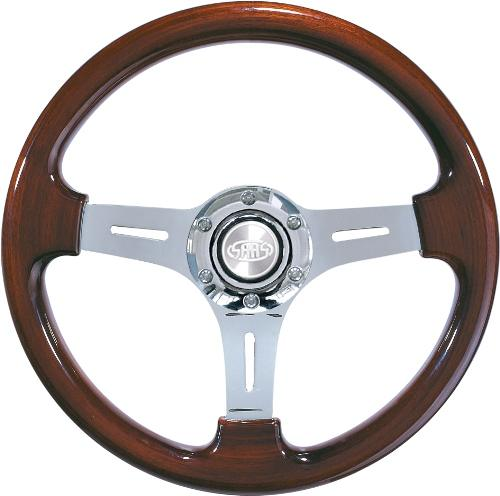 SAAS CLASSIC WOOD STEERING WHEEL 350MM