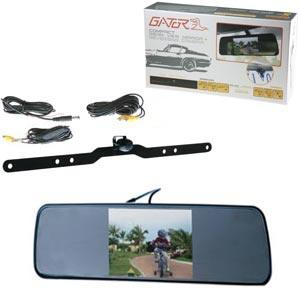 GATOR REVERSE CAMERA REAR VIEW MIRROR 5IN