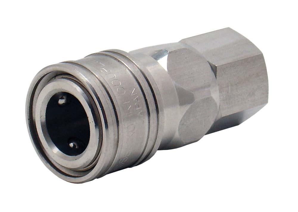 "ARO SPEED COUPLER 1/4"" BSP STAINLESS STEEL (210S)"