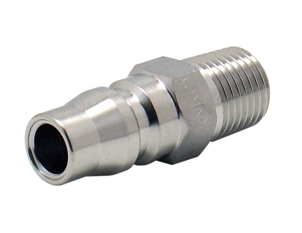 "ARO CONNECTOR 1/4"" BSP MALE STAINLESS STEEL 2608S"