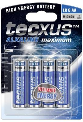 TECXUS AA MAXIMUM ALKALINE BATTERY  1.5V 4PC