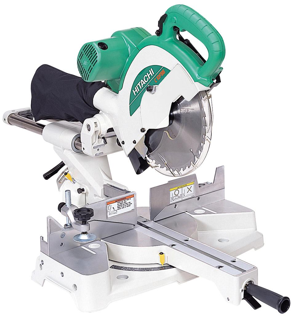 "Hitachi 262mm (10 1/2"") Slide Compound Mitre Saw with FREE stand"