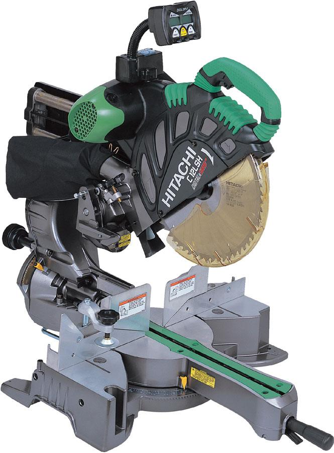 "Hitachi Slide Compound Mitre Saw with digital display 305mm (12"")"