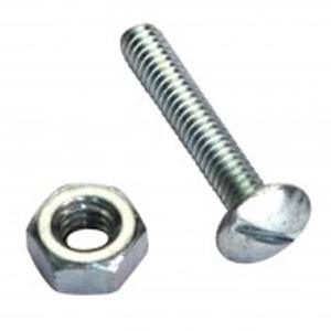 CHAMPION 3 16IN X 1-1 2IN BSW RND HD MACHINE SCREW & NUTS Zn - 24PK