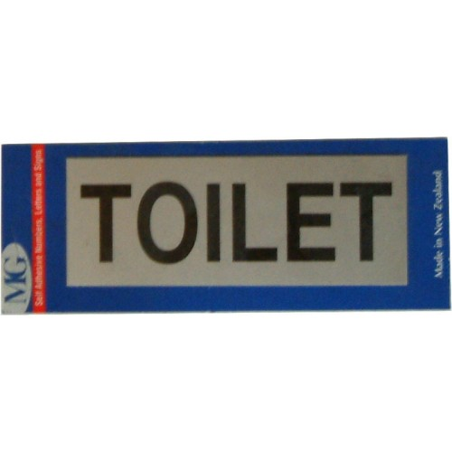 Aluminium Signs Self Adhesive   TOILET EA