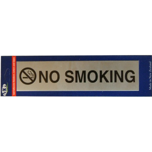 Aluminium Signs Self Adhesive   NO SMOKING EA