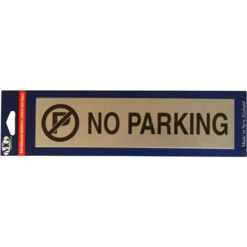 Aluminium Signs Self Adhesive   NO PARKING EA