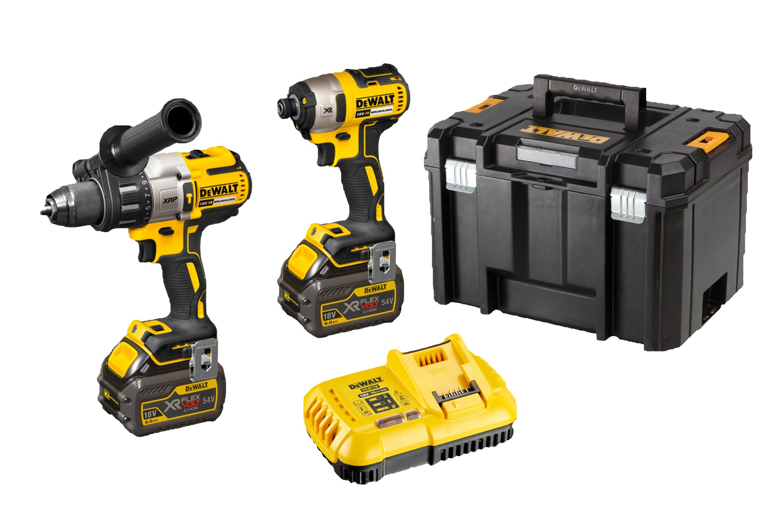 Dewalt 18V XRP Li-Ion 2pc Kit - 6.0Ah FV TSTAK