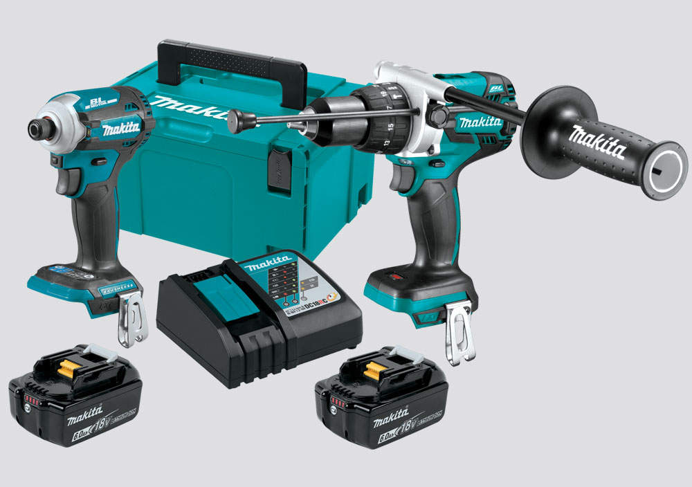 Makita 18V LXT Brushless 2-Piece Hammer Drill Driver / Impact Driver Kit 6.0AH Kit