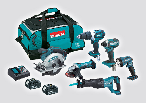 18V Cordless 6pc Combo Kit