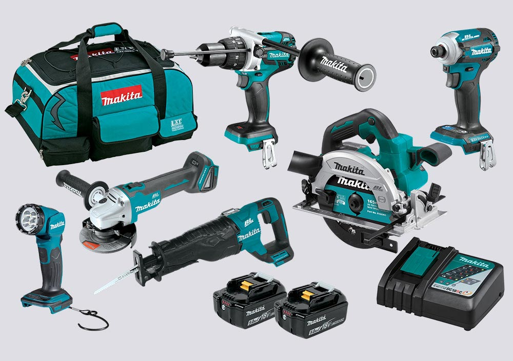 Makita 18V LXT Brushless 6-Piece Combo Kit