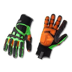 PROFLEX® 925FX DORSAL IMP-REDUCING GLOVES-XL-LIME PAIR