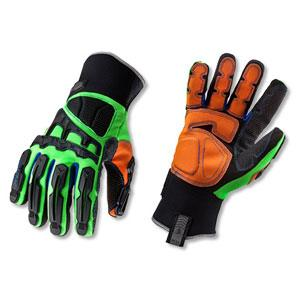PROFLEX® 925FXWP DORSAL IMP-REDUCING GLOVES-XL-LIME PAIR