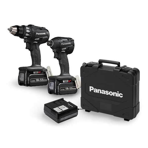 PANASONIC 18V DRILL/DRIVER COMBO KIT (EY74A2 + EY75A7)