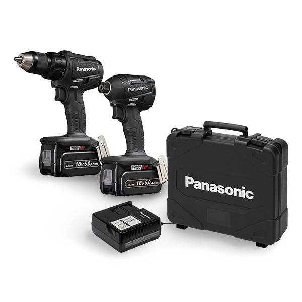 PANASONIC 18V HAMMER DRILL/DRIVER COMBO KIT (EY79A2+EY75A7)