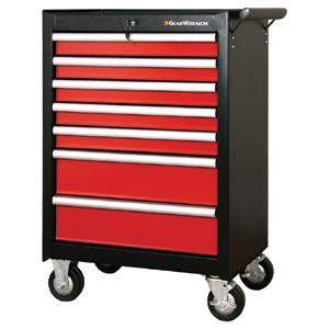 GEARWRENCH 7 DRAWER ROLLER CABINET (BLACK/RED)
