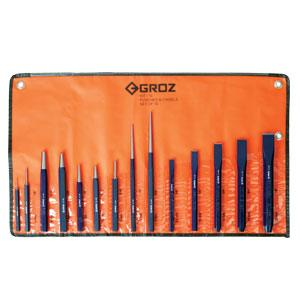 GROZ 14PC PUNCH AND CHISEL SET