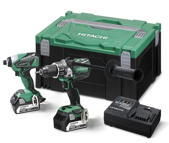 Hitachi 18V Brushless Impact Drill & Triple Hammer Impact Driver Kit