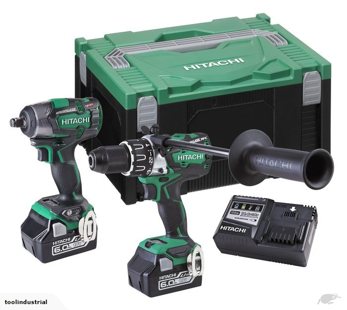 Hitachi 18V Brushless Impact Drill & Impact Wrench