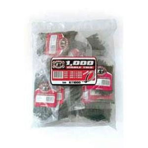 1000PC KT CABLE TIE ASSORTED PACK - UV BLACK