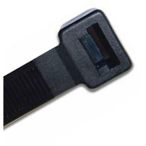 200 X 7.6MM UV NYLON CABLE TIE - BLACK - 100PK
