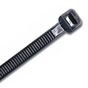 250 X 3.6MM UV NYLON CABLE TIE  - BLACK - 100PK