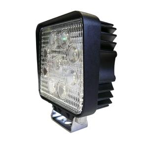 QESTA 27W SQUARE LED ALUMINIUM WORK LIGHT (10-30V DC)
