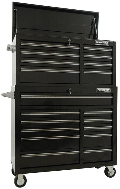 "Powerbuilt 41"" Racing Series Tool Chest & Roller Cabinet Combo"