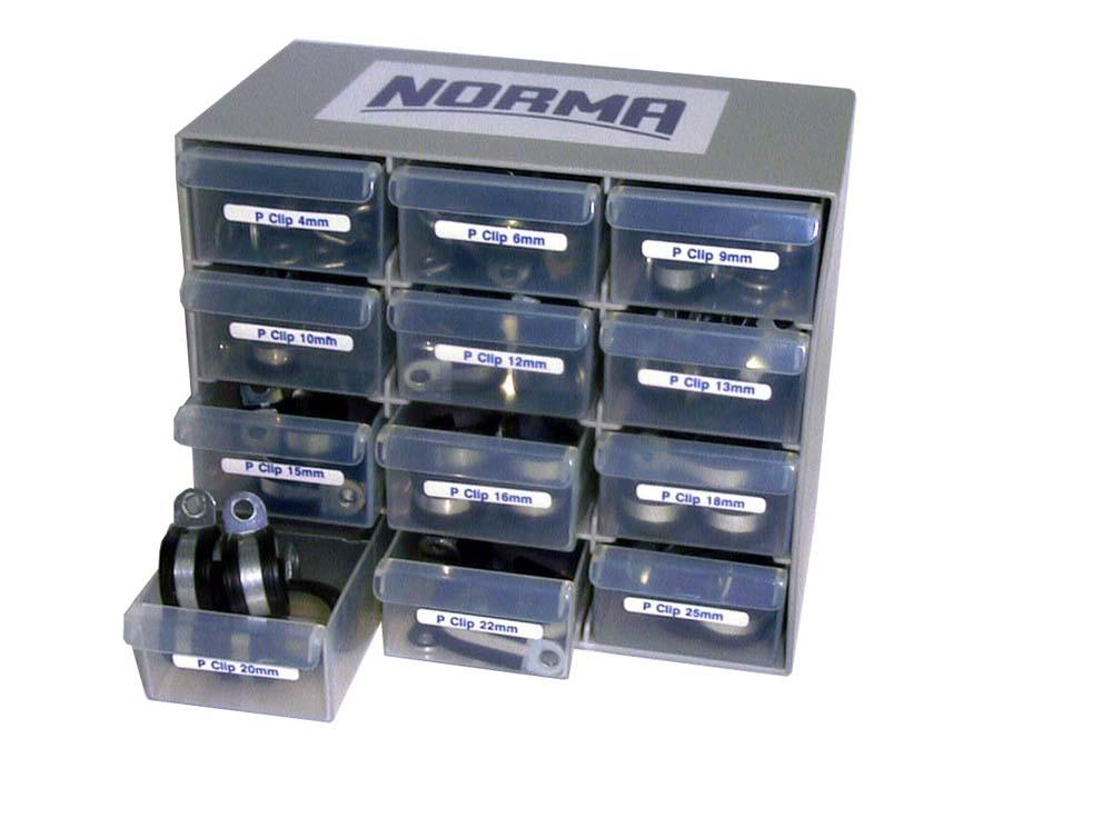 NORMA 90PCE RSGU PIPE RETAINING CLIP ASSORTMENT