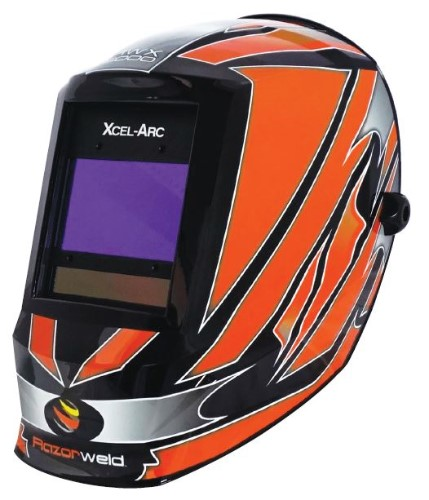Welding Helmet, Auto Darkening - Digital Controls, 4-Sensor Large View Area