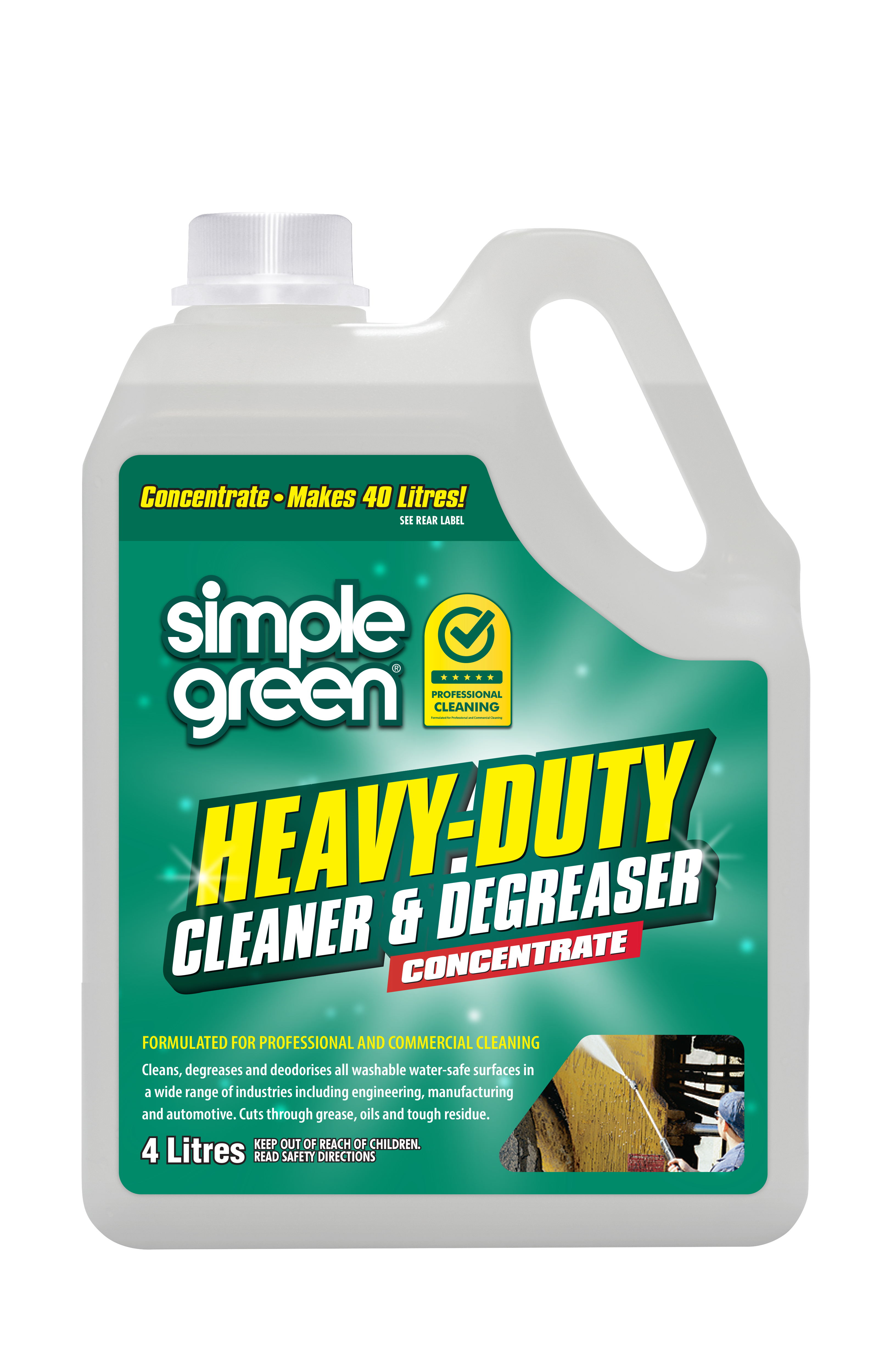 Simple Green Heavy Duty Cleaner and Degreaser 4L - Pack of 4