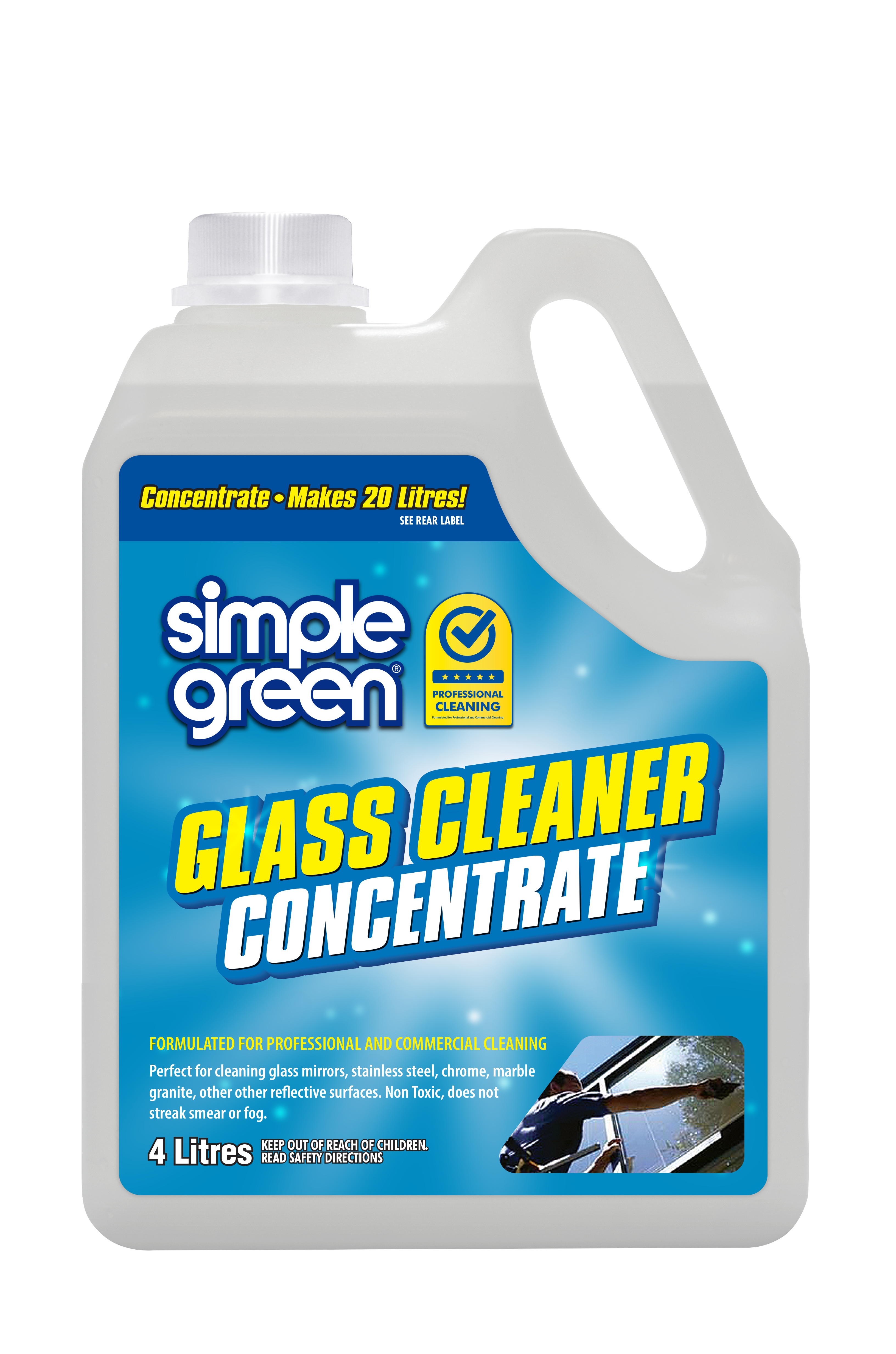 Simple Green Glass and Mirror Cleaner Concentrate 4L  - Pack of 4