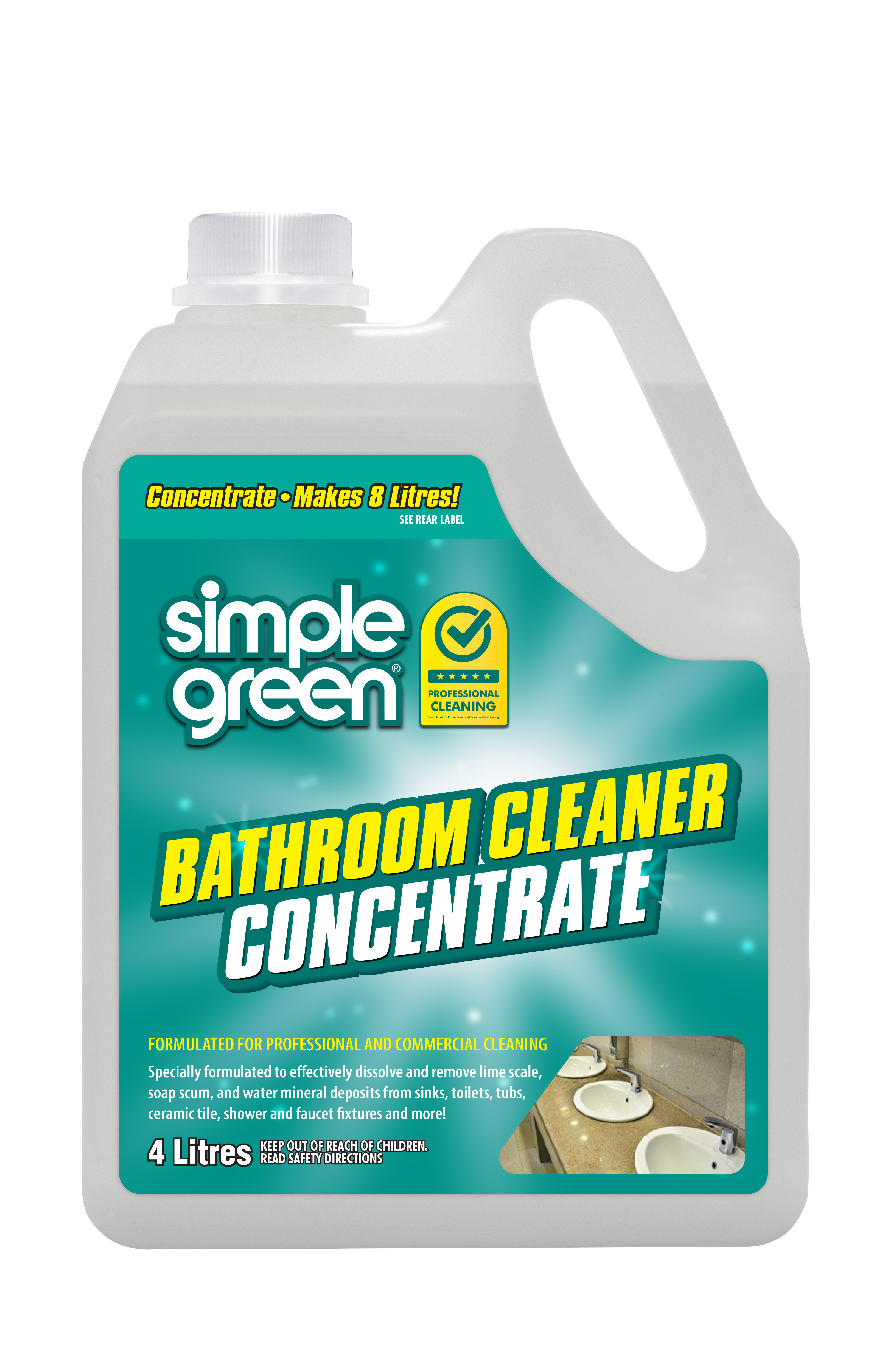 Simple Green Bathroom and Wet Area Cleaner Concentrate 4L - Pack of 4