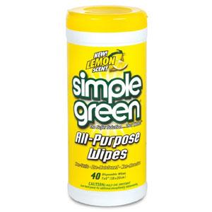 SIMPLE GREEN LEMON SCENT ALL PURPOSE WIPES (40 SHEET)