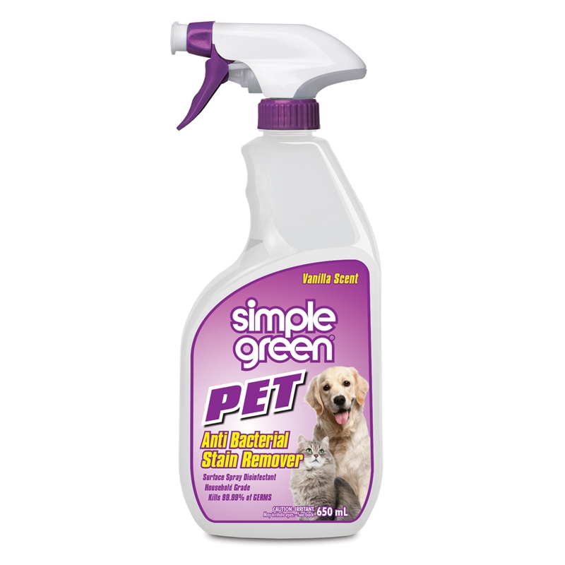 Simple Green Pet Stain Anti Bac Cleaner 650ml - Pack of 12