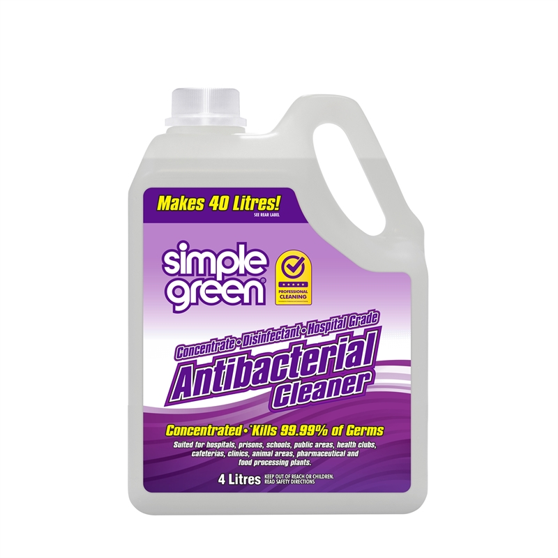 Simple Green Anti Bacterial Hospital Grade Concentrate 4L - Pack of 4