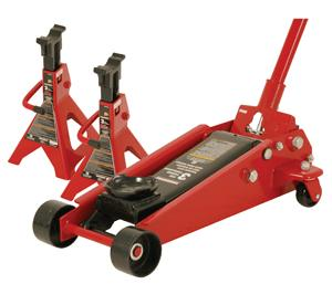 Powerbuilt Garage Jack & Axle Stand Set
