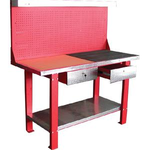 TRADEQUIP  1500MM WORKBENCH WITH PEG BOARD