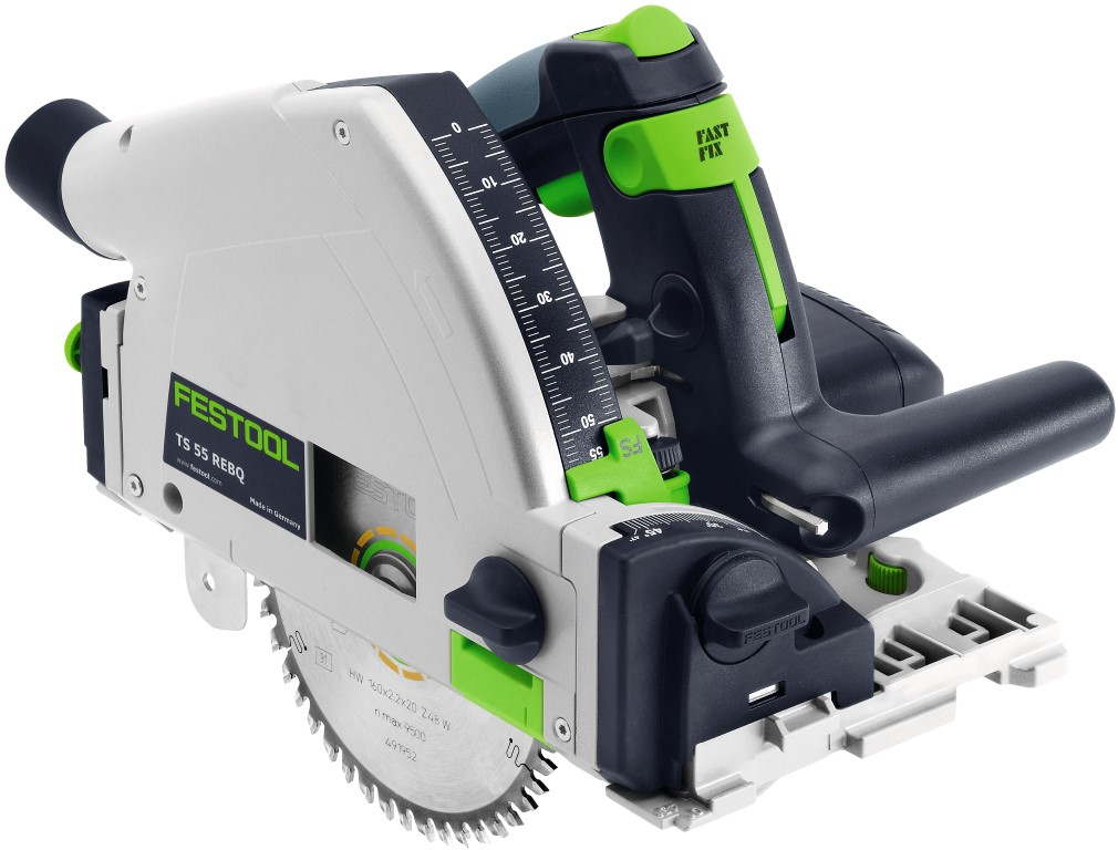 Festool TS55 Plunge Saw 2 Rails & Bag + Bonus Accessory Set