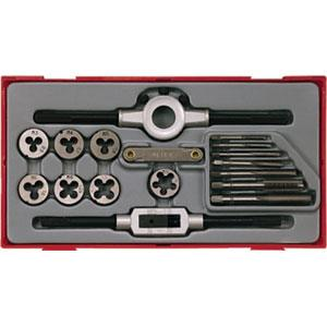 17pc METRIC TAP & DIE SET