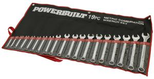 Powerbuilt ROE Spanner Set 19pc Metric