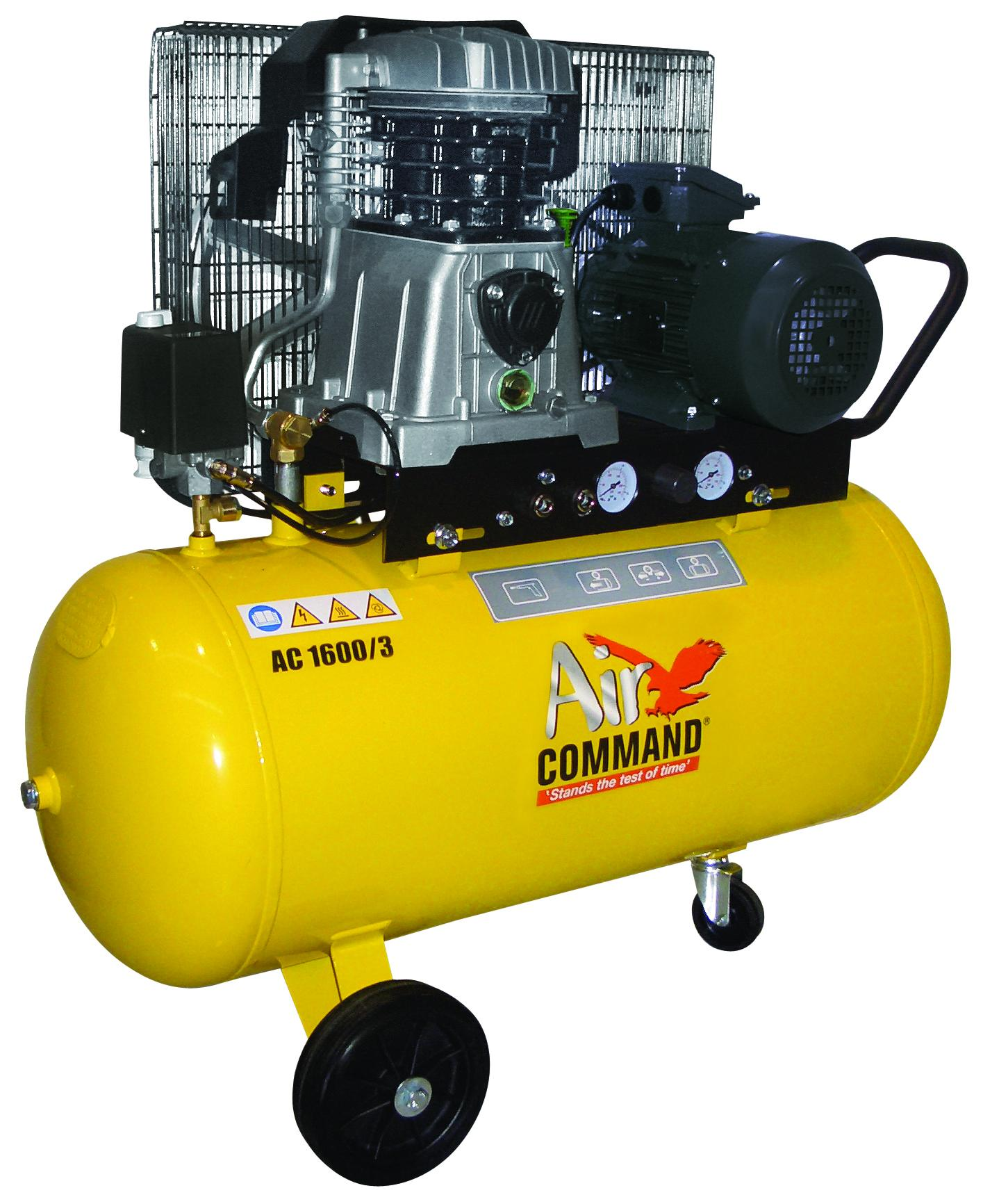 Air Command 16CFM, 3HP Compressor-100L Tank, 3 Phase