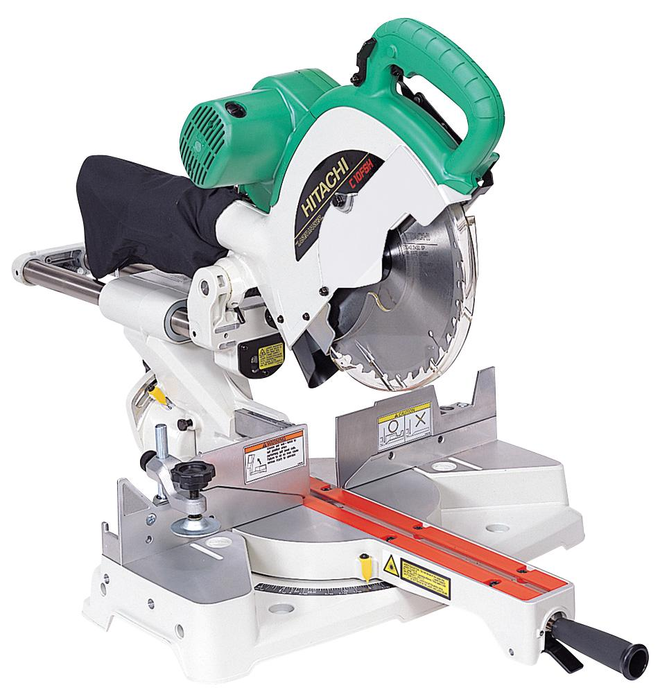 "Hitachi 262mm (10 1/2"") Slide Compound Mitre Saw with laser guide"
