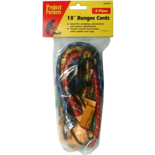 18in BUNGEE CORDS 4-PCE SET   #70314 EA