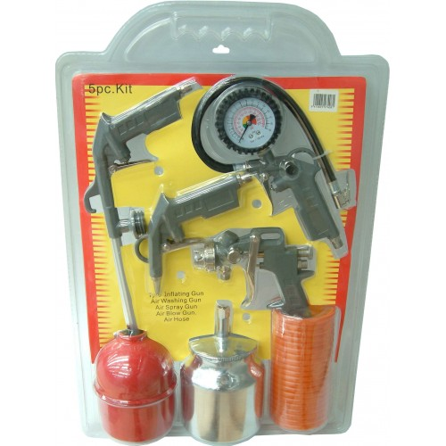 AIR TOOLS 5pce Set in Dble Blister for compressor